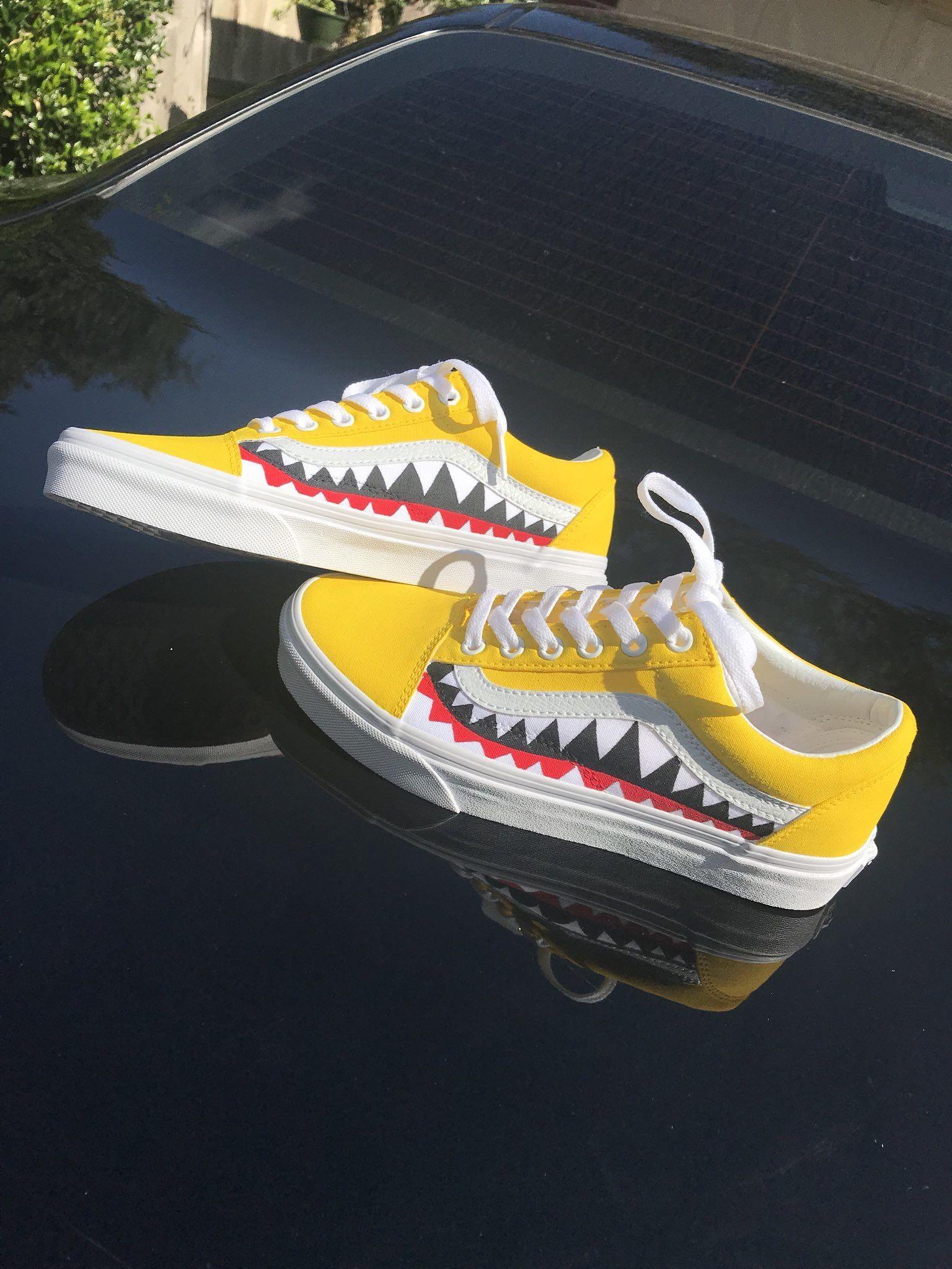 BAPE x Vans (IG: @majorwavez)   Custom shoes, Shoe boots