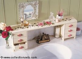 over the bathroom sink organizer | Rose Bouquet Sink Shelf - 25044