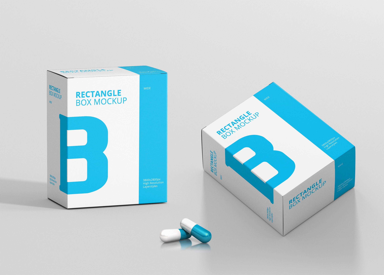 Download Vitamin Capsule Box Psd Mockup Mockup Free Psd Free Mockup Mockup Psd