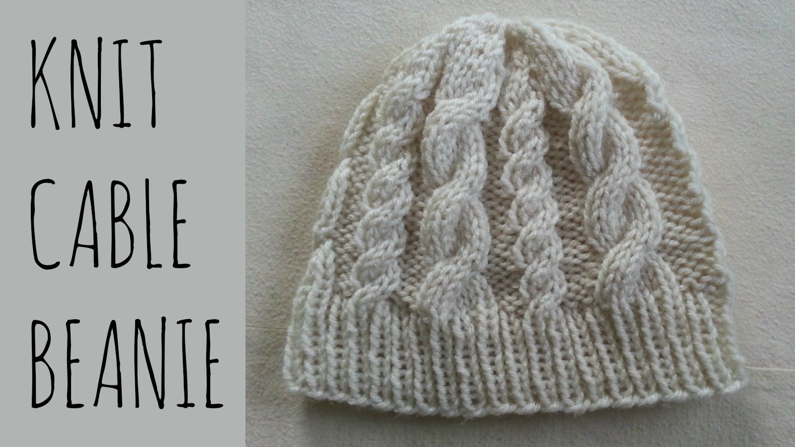 How to knit a beanie with 2 types of cables - a jumbo cable & a ...