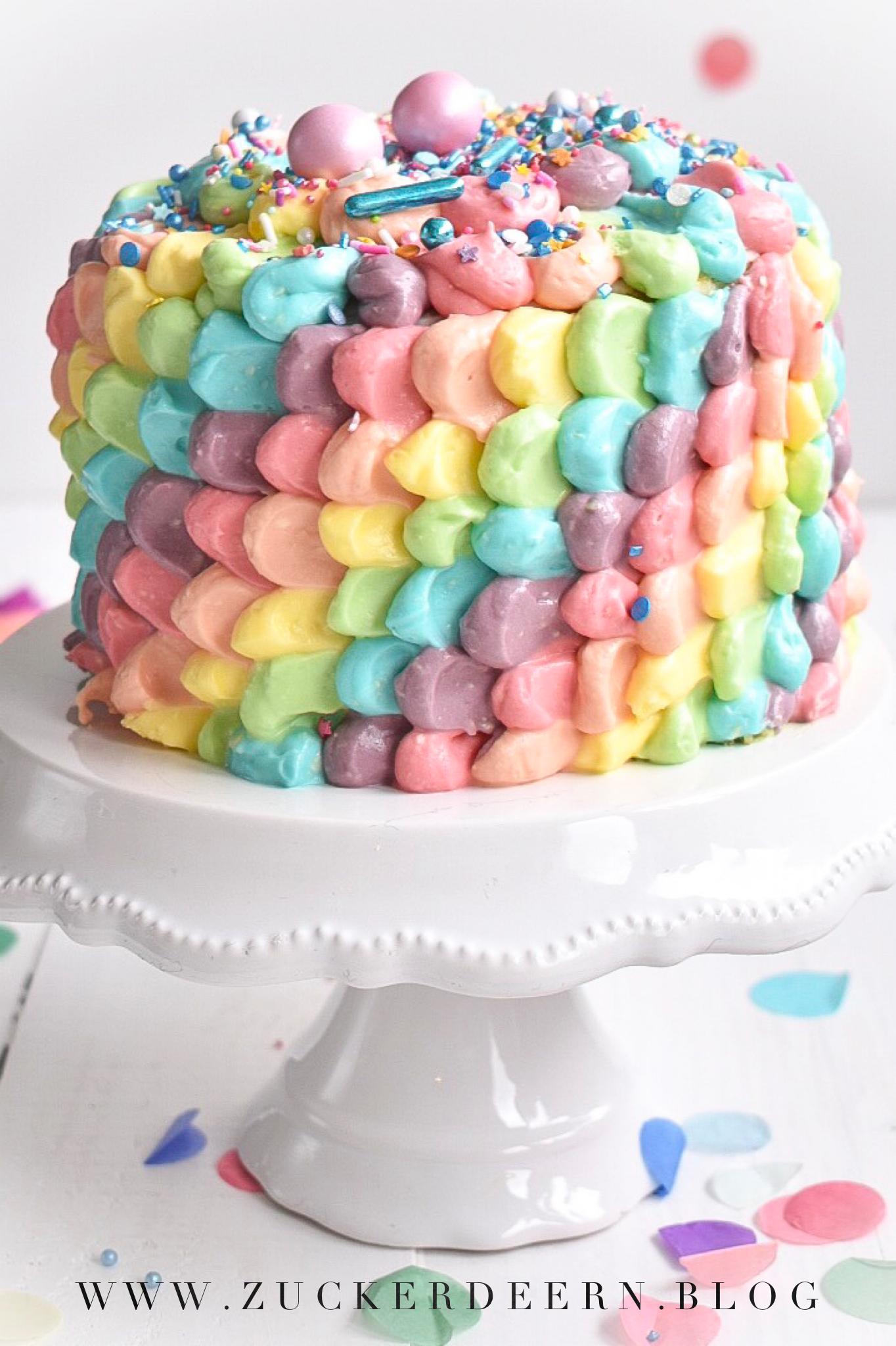 Regenbogen Torte Rainbow Cake Kindergeburtstag Fasching Regenbogentorte Susse Backerei Kuchen Ideen