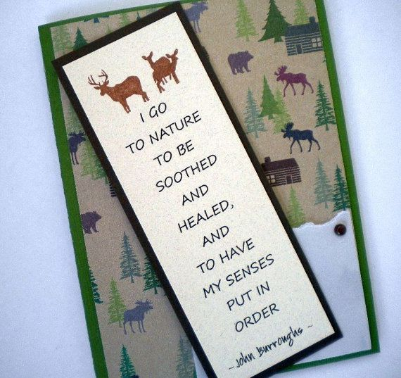 Gentil NATUREu0027S HEALING Bookmark Card With Nature Quote By TheMusesCall, ...