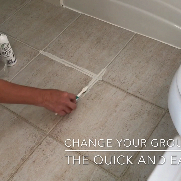 How To Change Grout Color The Easy Way Grout Cleaning Diy Cleaning Bathroom Tiles Grout Cleaner