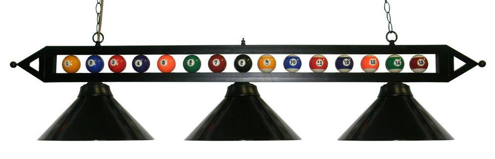 Details About 59 Black Metal Ball Design Pool Table Light Billiard Lamp W Black Metal Shades Pool Table Lighting Room Lights Pool Table