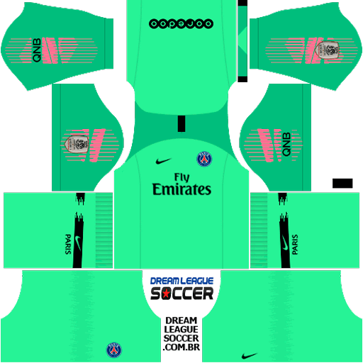 kit-PSG-dls18-home-Gk-uniforme-goleiro-casa-18-19 | kits