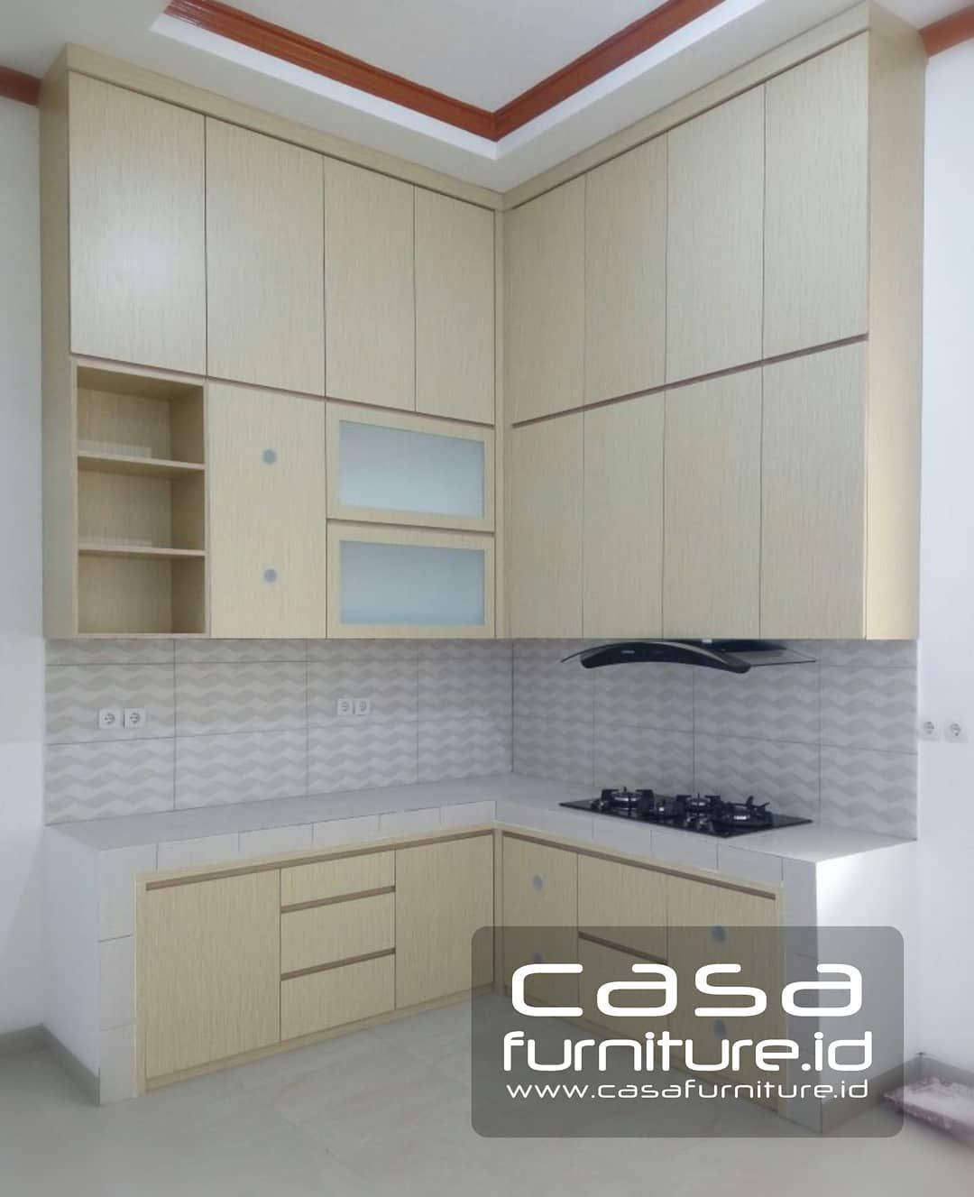 Kitchen setlemari minimalis di instagram kitchen set letter l poris plawad tangerang