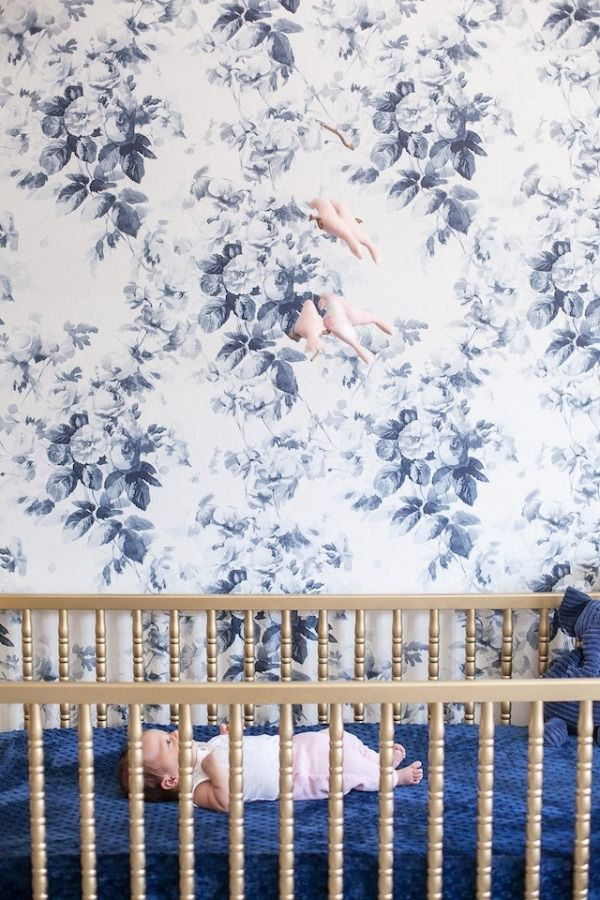 Floral wallpaper: http://www.stylemepretty.com/living/2015/08/10/trending-all-things-indigo/