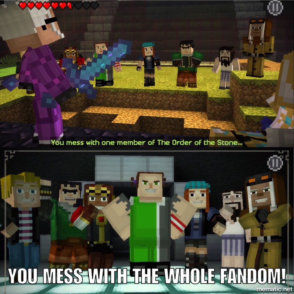 Minecraft Story Mode Meme ⛏