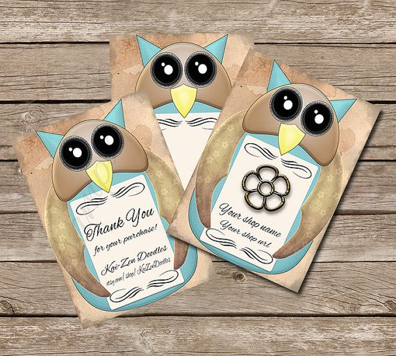 Owl 9 PRINTABLE Jewelry Tags ATC Size 25x35 in. by KaiZenDoodles, €2.00 #owl