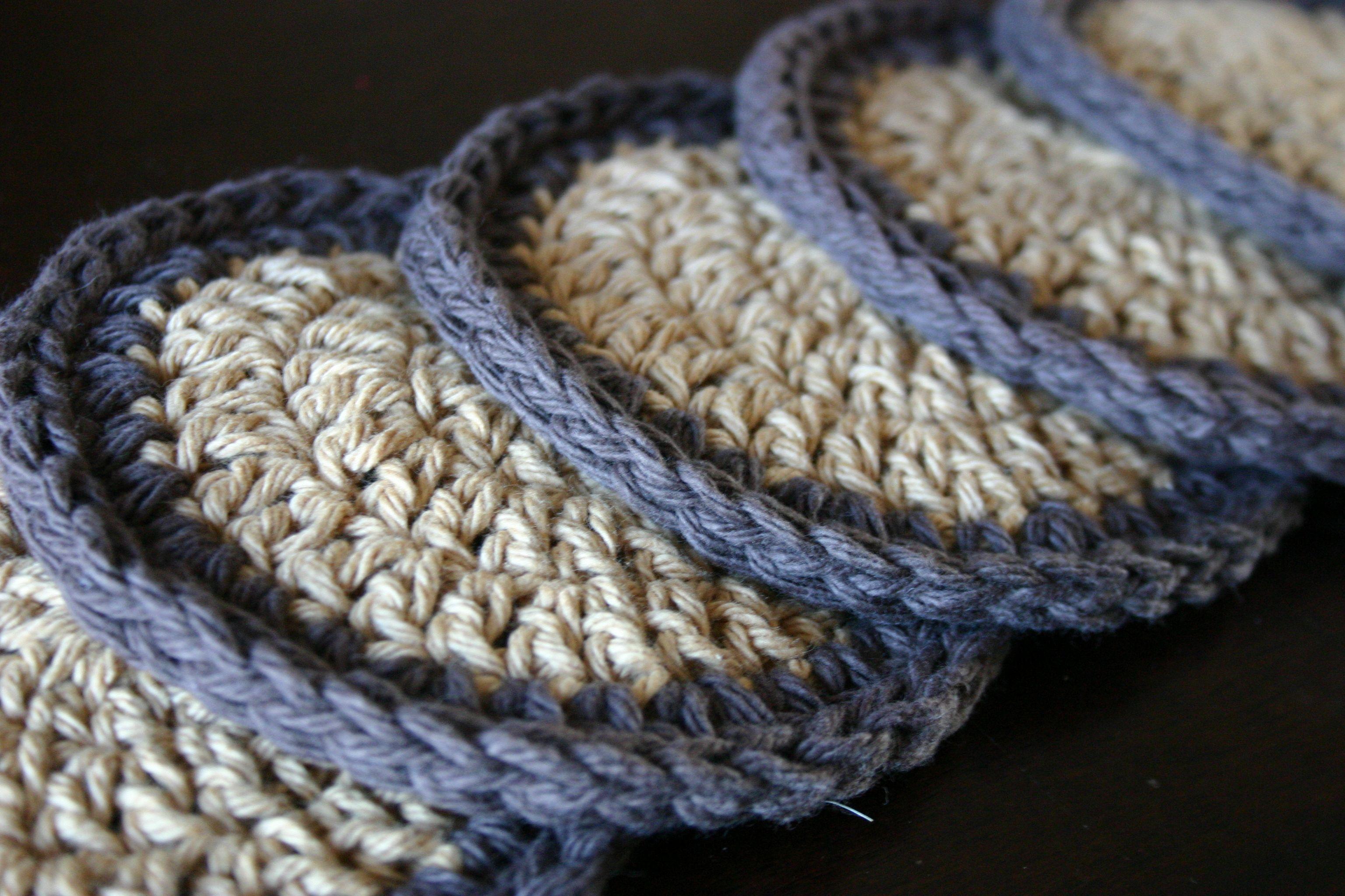simple crochet coasters (pattern included) | Pinterest | Crochet ...