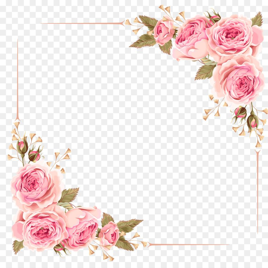Wedding Invitation Flower Rose Pink Clip Art Rose Border Unlimited Download Kisspng Com Pink Art Wedding Invitations Borders Flower Art