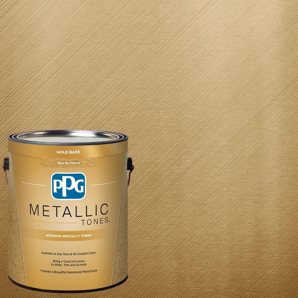 PPG METALLIC TONES 1 gal. MTL137 Gilded Gold Metallic (Grey ...