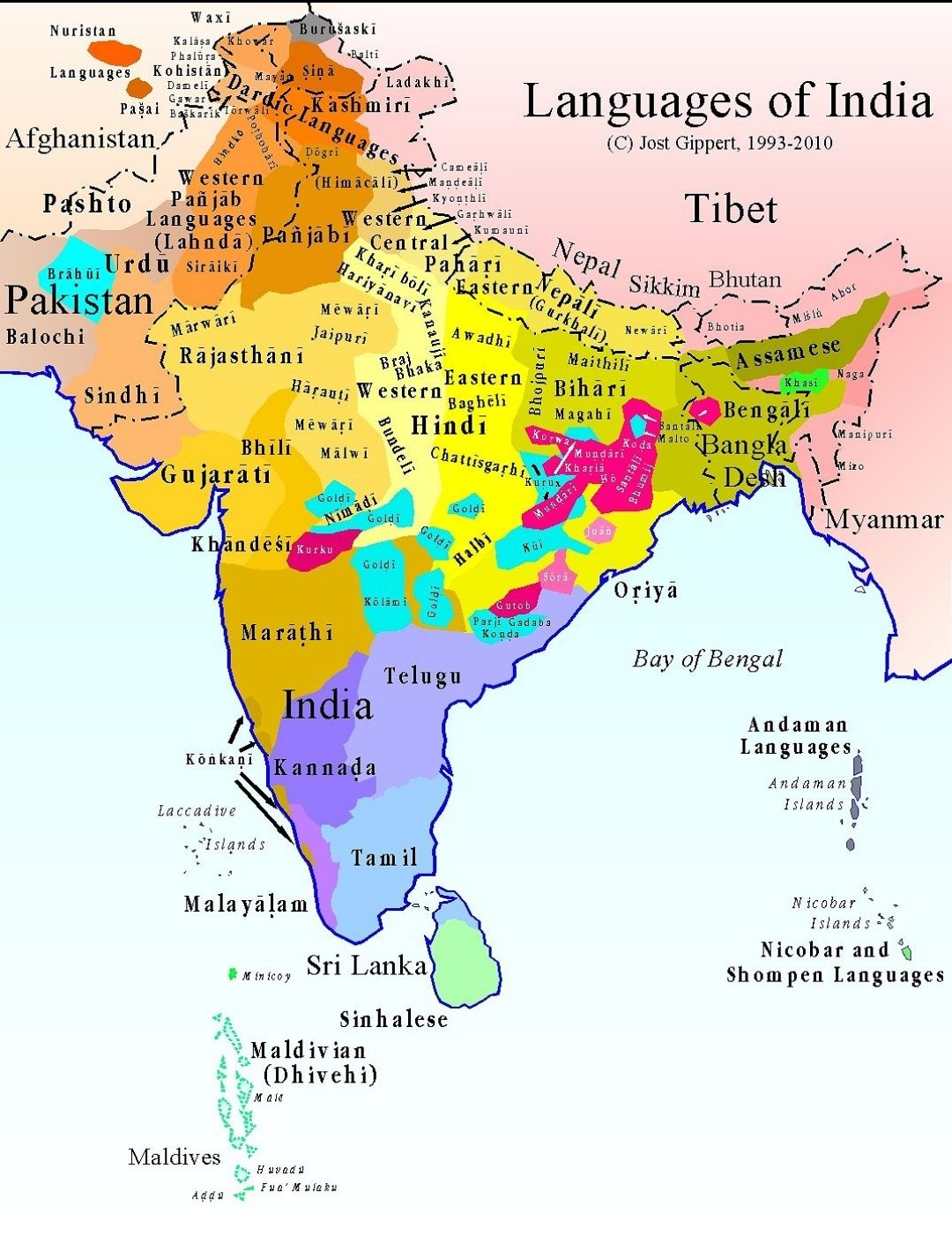 Language map of South Asia | Studying & School | Pinterest | India ...