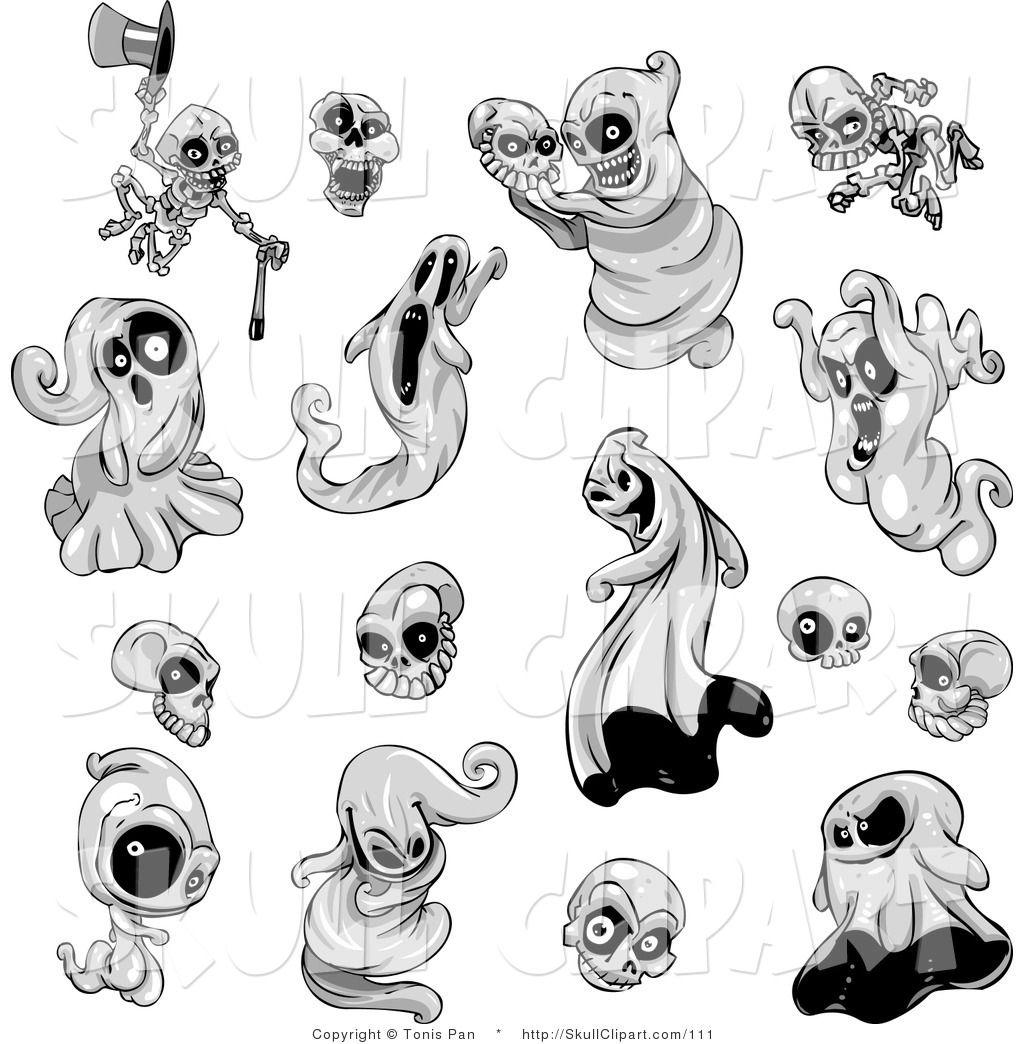 Creepy Cute Ghosty Clip Art