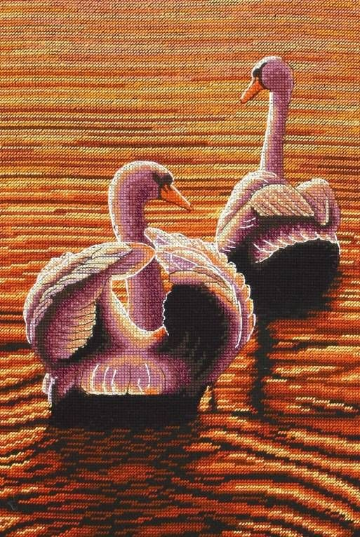 Twilight Swans Cross Stitch Kit £27.20 | Past Impressions | Maia ...