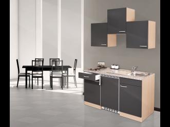 Respekta küchenzeile ~ Respekta küchenzeile cm buche grau mit geräten