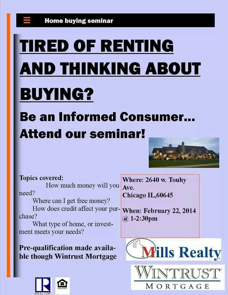 Frist time home buyers seminar at Mills Realty | Chicago