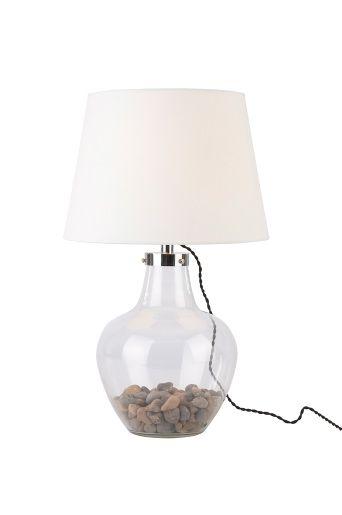 Härlig lampa från jotex! Själv lampfoten kan fyllas med valfri dekoration, självfallet skulle jag välja vackra tallkottar :D