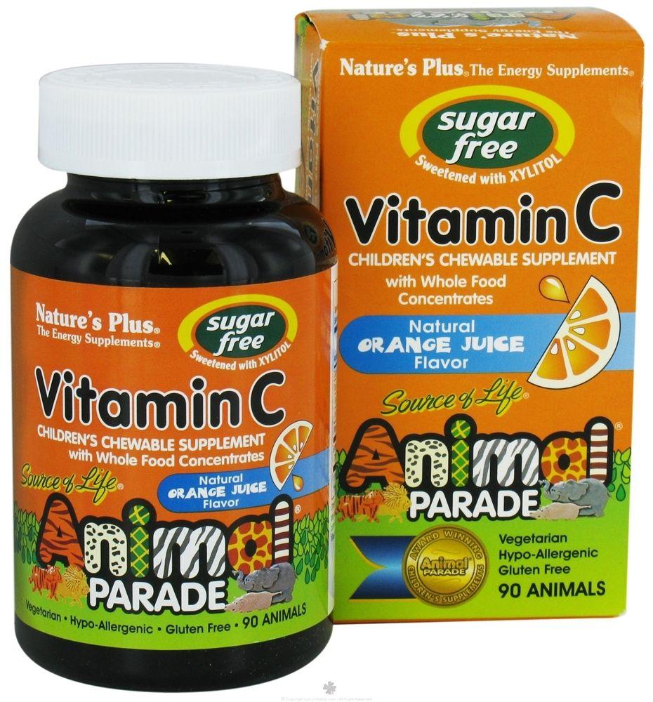 Para Los Mas Pequenos Vitamina C Masticables De Sabor A Naranja Y