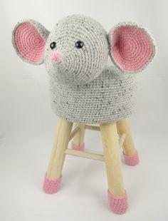 Dieren Kruk Muis Haakpret Haken Amigurimi Crocheting Kruk