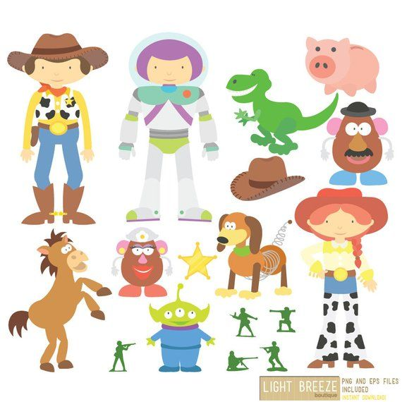Toy Story Digital Clipart Vector Set Instant Download Personal