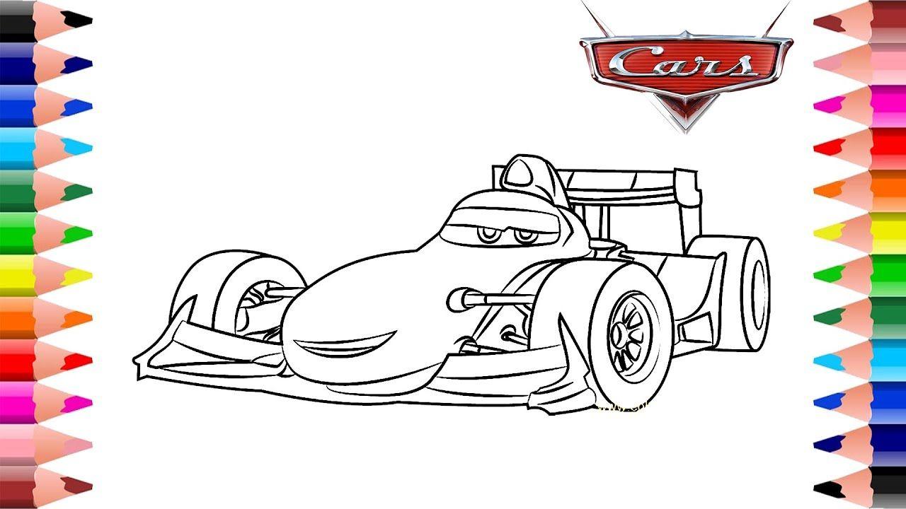 Disney Pixar Cars Francesco Bernoulli Car Coloring Pages Race Car Co In 2020 Cars Coloring Pages Disney Pixar Disney Pixar Cars