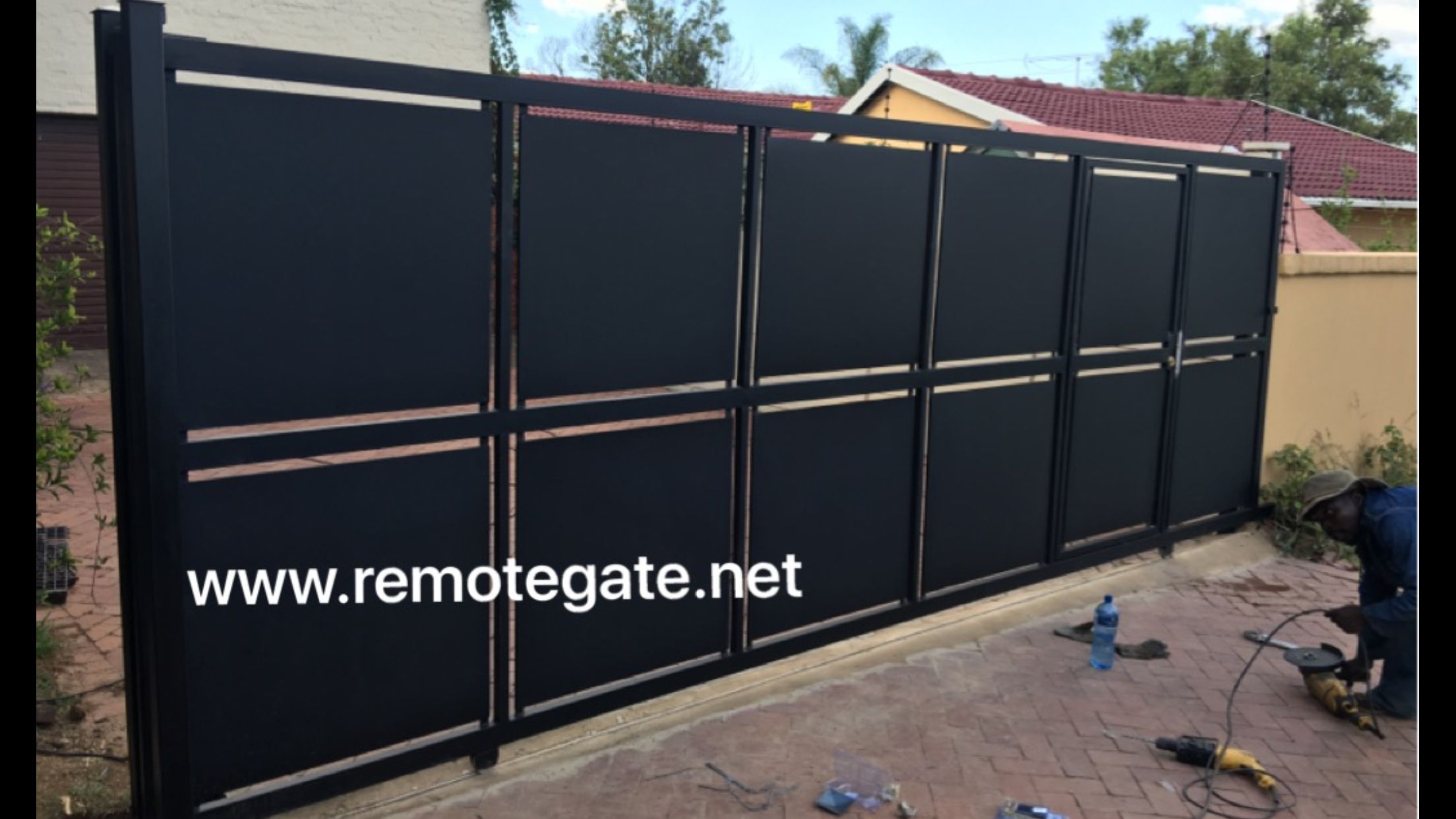 Sliding Gate For Garage Solid Sliding Automated Gate Garden Gates In 2019