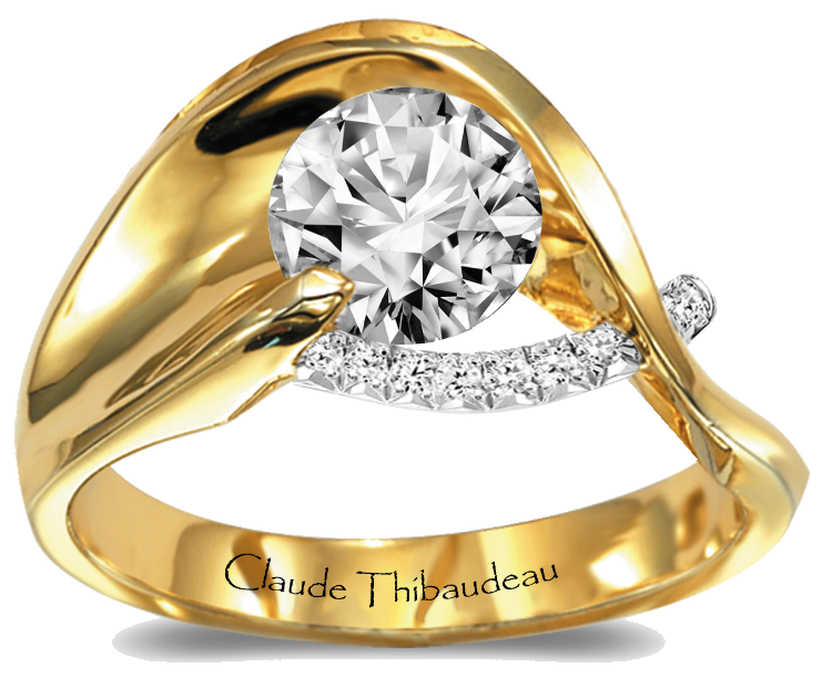 Claude Thibaudeau #engagement #ring #wedding