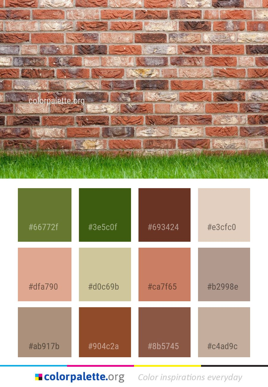 Brickwork Brick Wall Color Palette