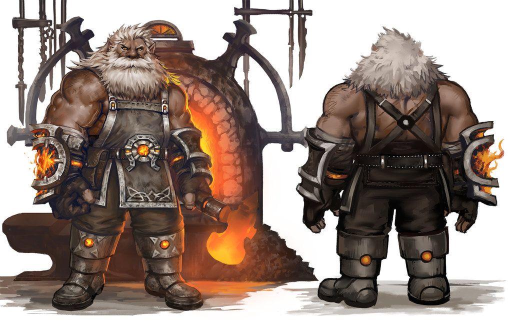Dwarf blacksmith | Fantasy dwarf, Blacksmithing, Dwarf