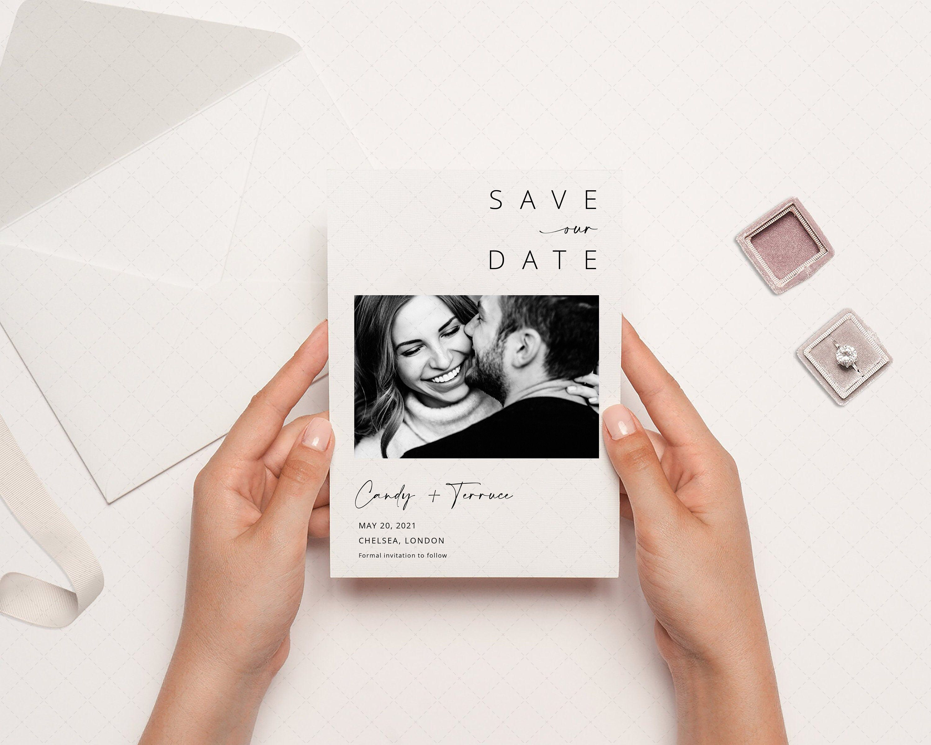 Printable Save the Date Simple Modern Photo Save the date Instant Download PDF M20 Editable Save the date Minimal Save the date Template