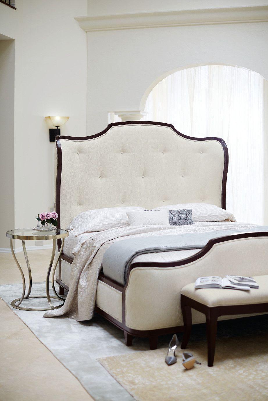 Miramont upholstered queen bed bernhardt furniture in house