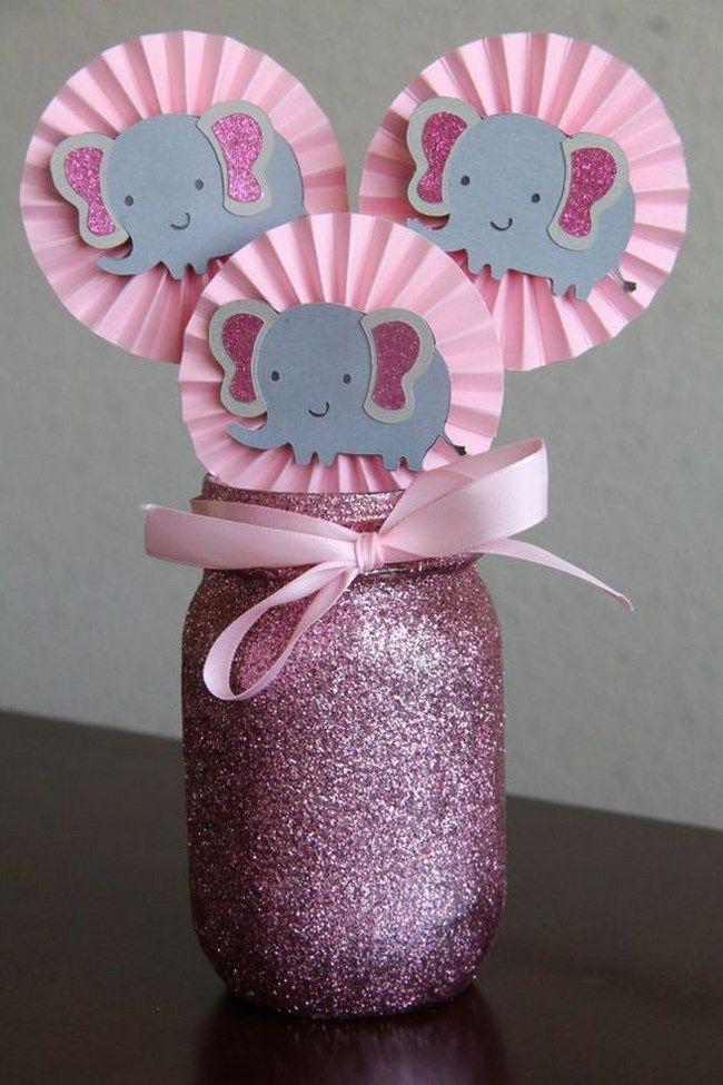 Resultado De Imagen Para Baby Shower Rosa Y Gris
