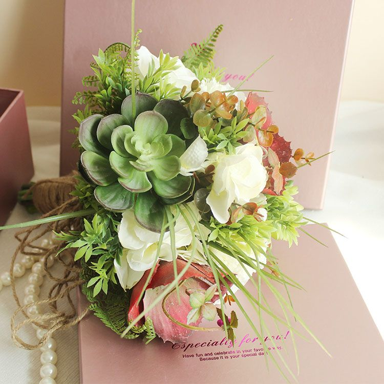 Find More Wedding Bouquets Information About Succulent Accessories Supplies Artificial Bouquet