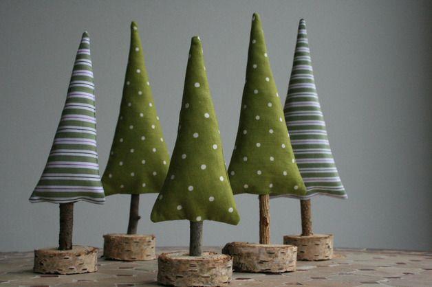 Set Bestehend Aus 5 Weihnachtlichen Tannenbäumchen Zum Hinstellen Und  Dekorieren! Es Gibt Sie In Der Gruppe, Das Sieht Besonders Schön  Stimmungsvoll Aus, ...