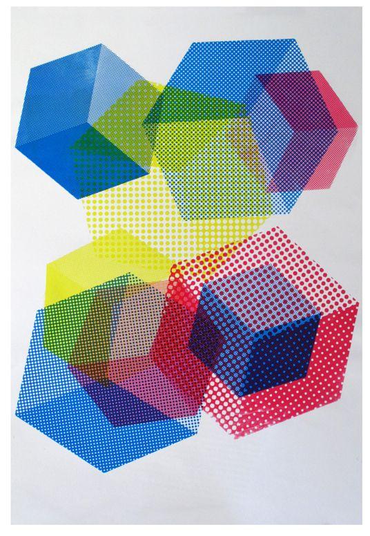 moir u00e9 cubes posters