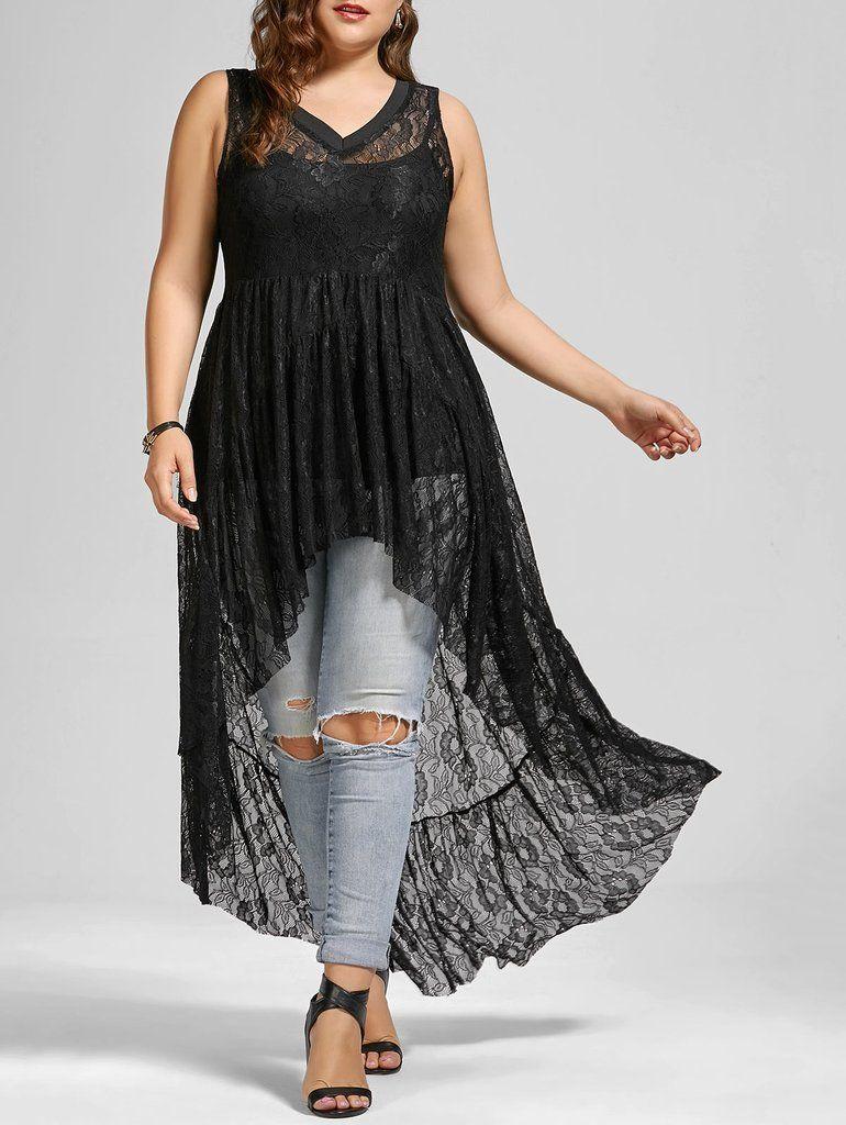 1221a448b9f Material  Polyester   Shirt Length  Long   Sleeve Length  Sleeveless    Collar  V-Neck   Style  Fashion   Season  Summer   Embellishment  Lace    Pattern ...