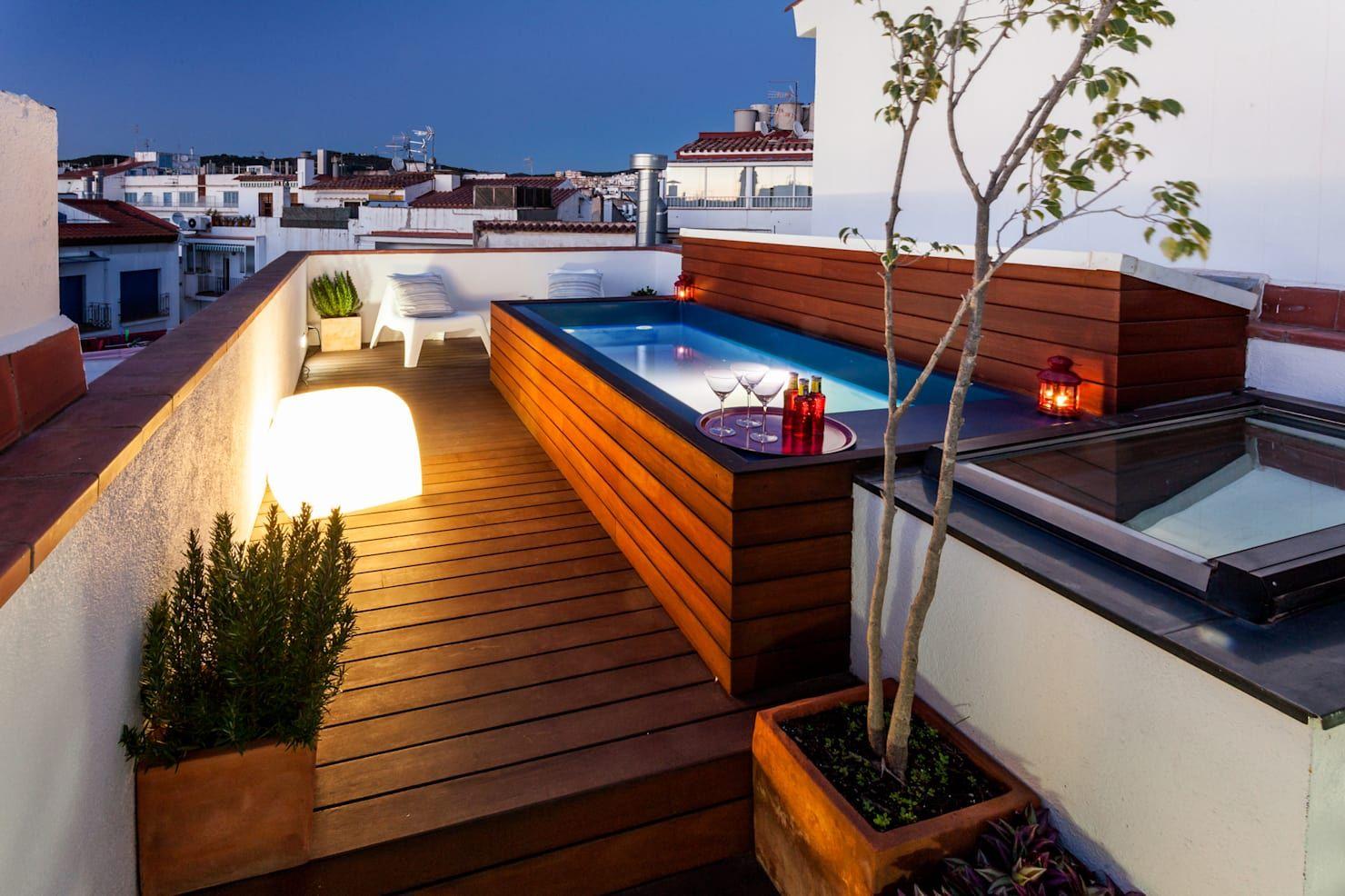 Spa De Estilo Moderno Por Homify Roof Garden Piscina En