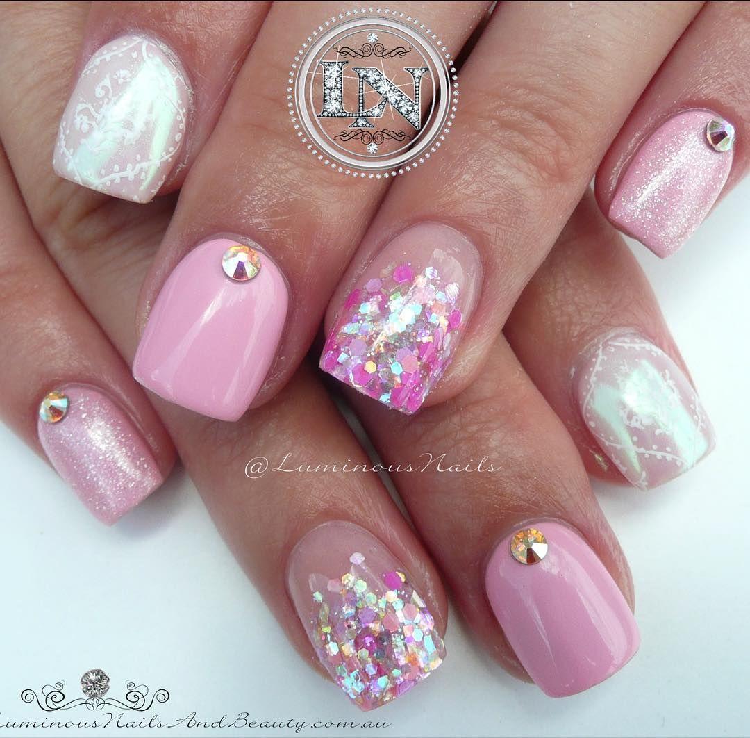 Pink Little cuties @luminousnails | Inspired by Get Buffed ...