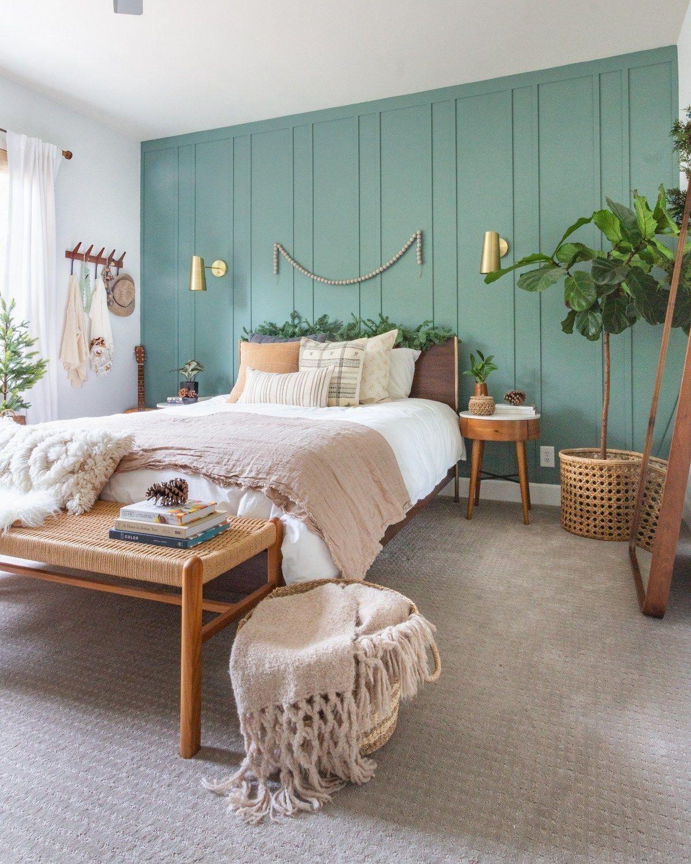 DIY Board and Batten Wall | 1000 in 2020 | Green bedroom ...