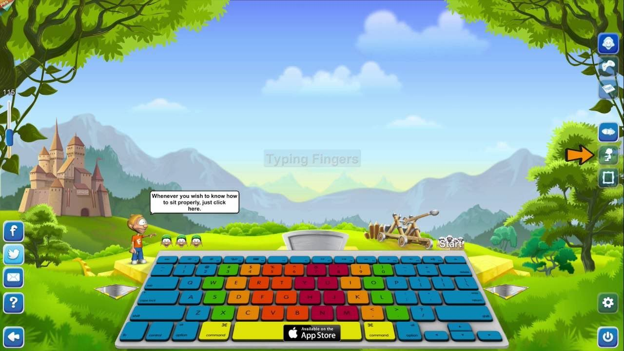 Step by Step easily learn Typing Tutor Games from Typing