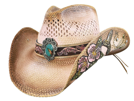 7598e341b78a0 Chapeau en paille de Panama Magnifique chapeau western en paille fine de  Panama de trés grande