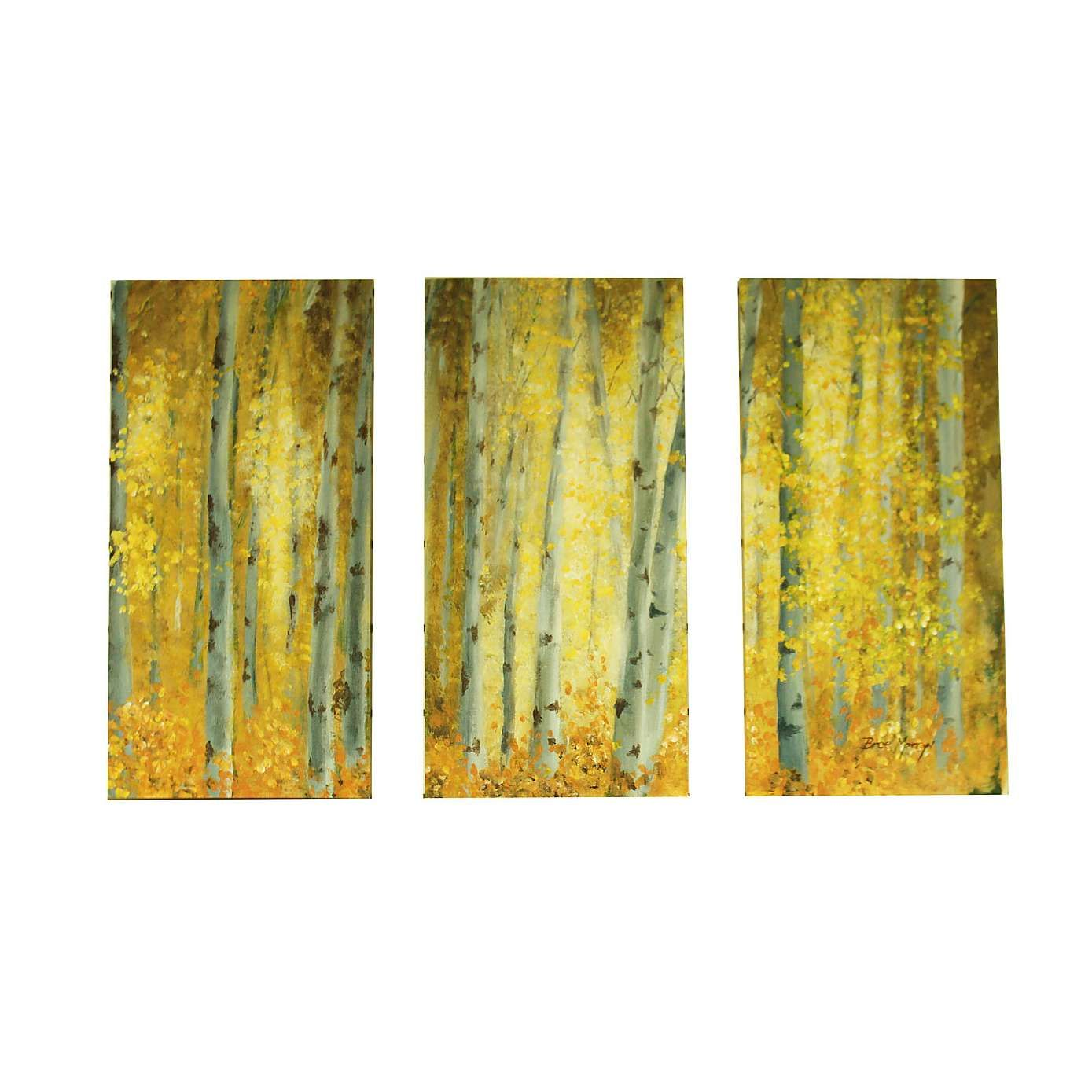 Sunlit Woodland Triptych Canvas | Dunelm | White Family Guest Suite ...
