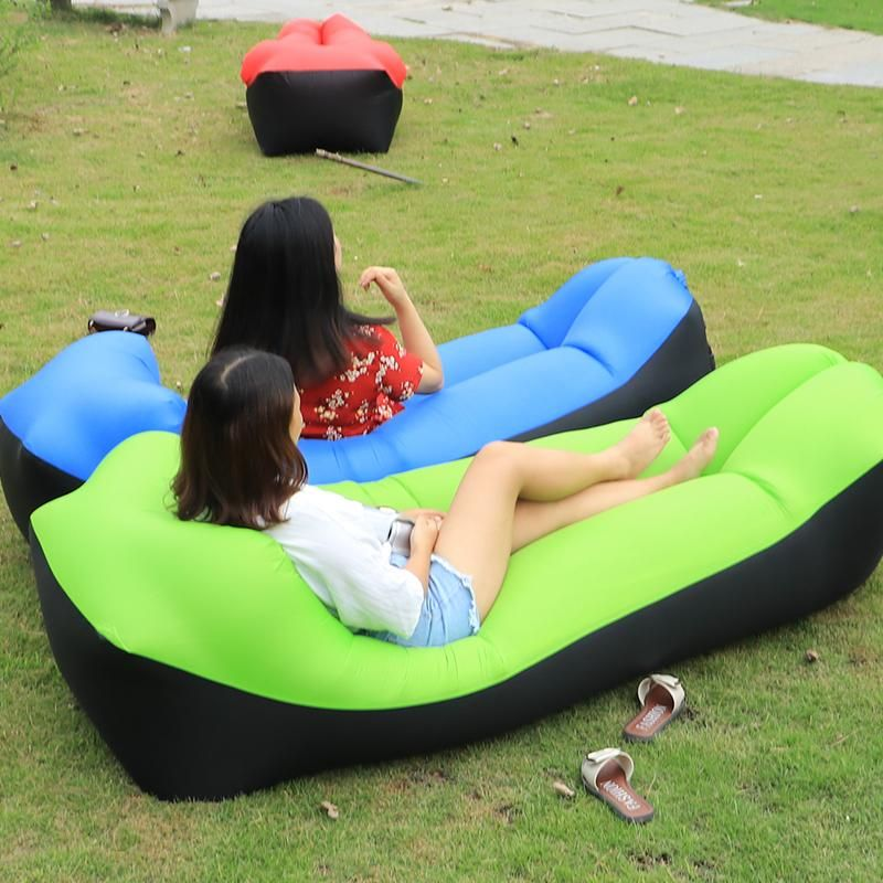 2018 New Outdoor Lazy Sofa Sleeping Bag Portable Folding Rapid Air Inflatable Sofa Inflatable Couch Beach Bedding Inflatable Lounger