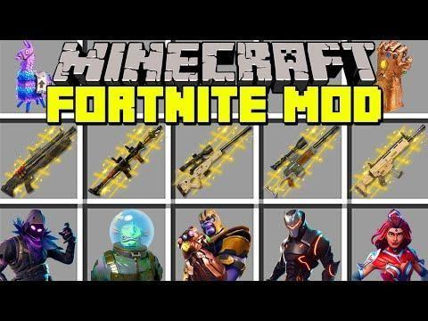 Minecraft FORTNITE MOD L THANOS, NEW WEAPONS, SKINS & SEASON 4 L