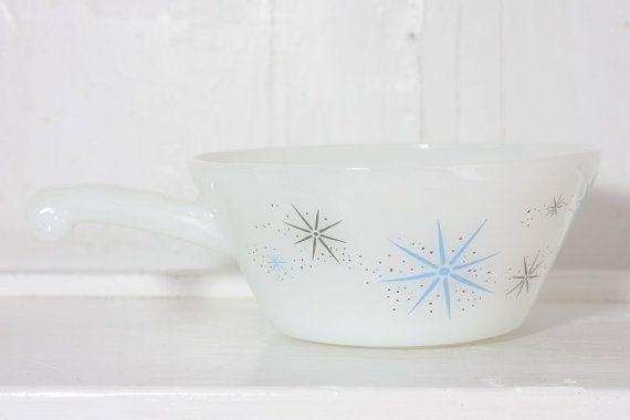 Milk Glass Soup Bowl Vintage Glasbake Ramekin by TheBeetlesKnees, $7.50