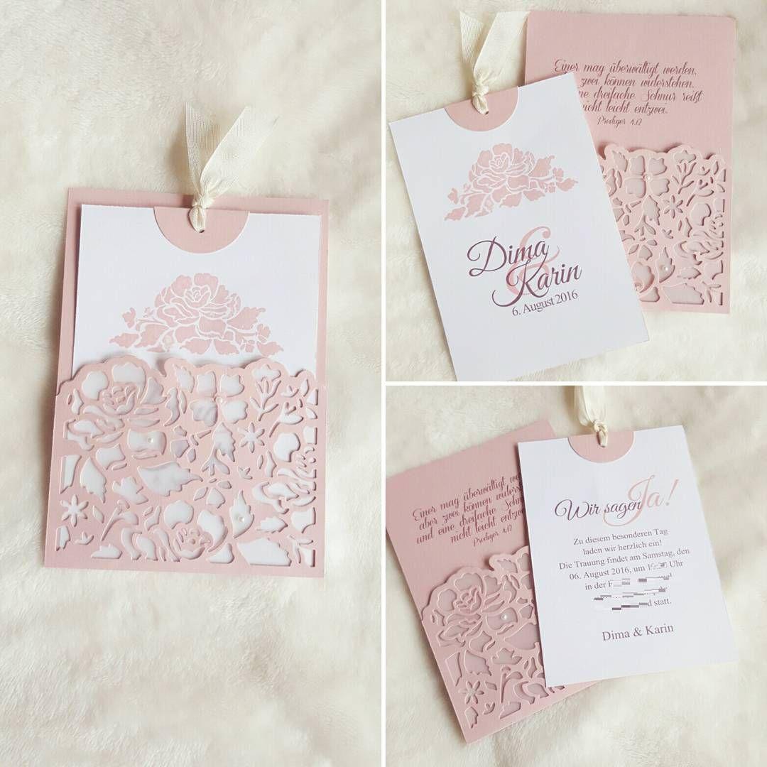 Amazing Wedding Einladungskarten #5: Diese Wunderschöne Einladung Zur Hochzeit Habe Ich Zusammen Mit Der Braut  Gebastelt. #hochzeit #