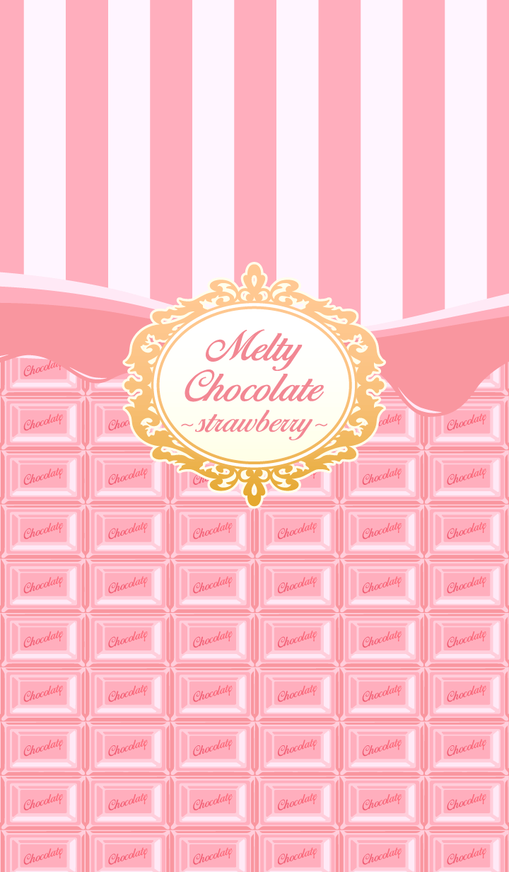 This Is A Theme Of Melting Chocolate Bar Lovely Strawberry