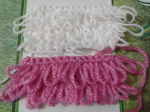 How to Crochet a single loop stitch for Cabbage Patch Hat - YouTube ...