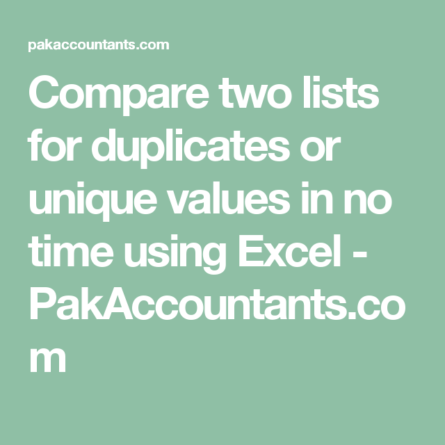 compare two lists
